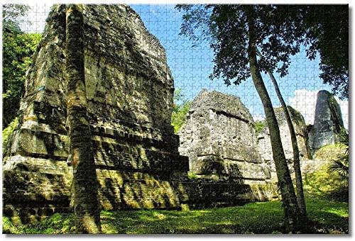 Puzzle- Rompecabezas de Guatemala Tikal para Adultos, niños, 1000 Piezas, Juego de...
