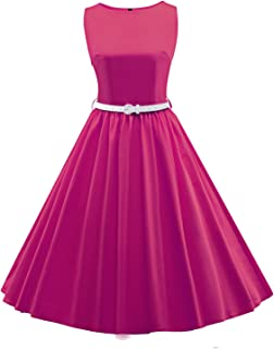 HongyuTingドット上の女性の古典的なレトロな50はヴィンテージGロカビリースイングドレスです