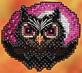 Moonlit Owl Beaded Counted Cross Stitch Ornament Kit Mill Hill 2020 Autumn Harvest MH182023