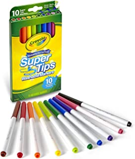 Crayola Washable Super Tips Markers, Multi-Colour, Cy58-8610