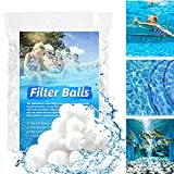 Fumupe Bolas de filtro para piscina, material más ligero para mejor rendimiento, sustituye a 25 kg de arena de filtro.