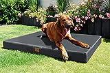 tierlando® Mobile Hundematratze HUGO BASIC   Gehobene Stabilität & Qualität!   Anti-Haar Polyester   L 100 x 80 x 13 cm   Graphit Grau - 2
