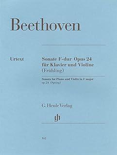 ベートーヴェン: バイオリン・ソナタ 第5番 へ長調 Op.24 「春 (スプリング)」/ヘンレ社/原典版/ピアノ伴奏付ソロ楽譜