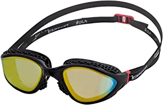 KONA81 Barracuda Swim Goggle K945 - Honeycomb-Structured Frame/Seals, Triathlon UV Protection No Leaking Easy Adjusting Lightweight Comfortable for Adults Women Ladies #94510