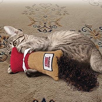 KONG - Kickeroo™ Cuddler - Jouet irrésistible, herbe à chat d'Amérique du Nord (col. variable)