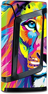 Skin Vinyl Decal for Smok Alien 220W TC Vape Mod / with Grip-Guard Technology stickers skins cover/ Colorful Lion Abstract Paint