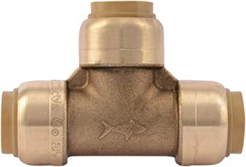 SharkBite UXL08544141 Reducing Tee 2 Brass