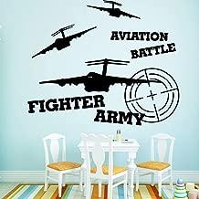 WSYYW Drop Shipping Fighter Army Self-Adhesive Adhesive Vinyl Waterproof Wall Art Decal Child Room Decoration Art Black XL 57cm X 69cm