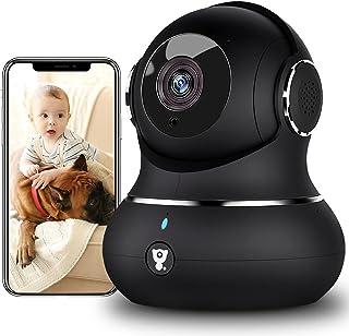 [2021 New] Überwachungskamera Innen, Littlelf Hundekamera mit App, 1080P WLAN Kamera mit..