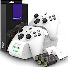 Fosmon Carregador Dual 2 MAX compatível com Xbox Series X/S (2020), controles Xbox One/One X/One S Elite, estação de carre...