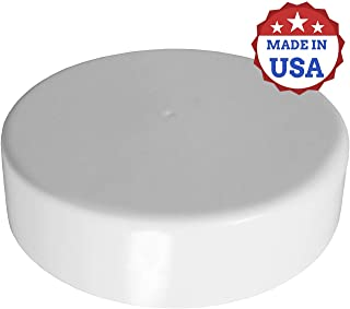 Marine Dock Piling Cap, Flat Top Design, Piling Cone, 100% Polyethylene Material, Lasts up to 10+ Years, Made in USA (Black, 8