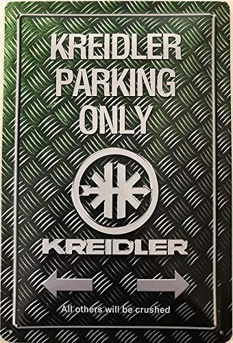 Deko7 blikken bord 30 x 20 cm Kreidler Parking Only Griffel
