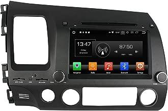 KUNFINE Android 9.0 Otca Core 4GB RAM Car DVD GPS Navigation Multimedia Player Car Stereo for Honda Civic 2006 2007 2008 2009 2010 2011 Radio Headunit Steering Wheel Control Bluetooth Free Map
