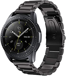 V-MORO Compatible with Galaxy Watch Active 2 44mm Strap, 20mm Solid Stainless Steel Strap for Galaxy Watch 42mm/Samsung Galaxy Watch Active 40mm Smartwatch