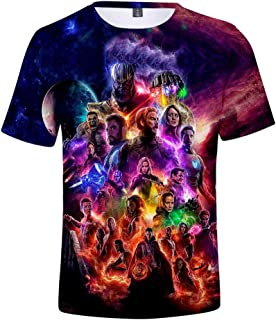 Halloween Heroes Cosplay T-Shirt 3D Full Printed Pattern Short Sleeves Summer Sport TOP Shirt for Adult/Teens/Kids