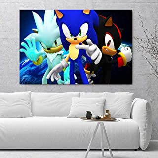 5D Diamond Wall Art Painting Bordado Nice Sonic The Hedgehog Imagen del juego Full Square Drill Cross Stitch Bead Work Home Decor-UNA_30 × 30