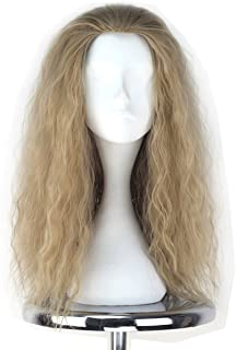 Miss U Hair Decent Long Curly Ash Blonde Hair Men Party Movie Cosplay Costume Wig