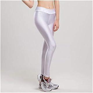 High Waist Candy Colors Neon Sportswear Workout Leggings Women Pants Fashion Jegging Elastic Strtched Shiny Leggins (Color...