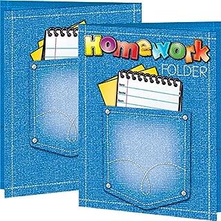 Really Good Stuff Student's Homework 2-Pocket Folders – Set of 12