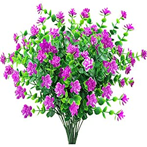 JEMONG Artificial Flowers Outdoor Fake Flowers for Decoration UV Resistant No Fade Faux Plastic Plants Garden Porch Window Box Décor