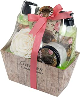 Spa Life All Natural Bath and Body Luxury Spa Gift Set Basket (Floral Fruity)