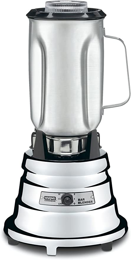 Waring Commercial Bb900s 1 2 Hp Chrome Bar Blender With 32 Ounce Stainless Steel Container 1 Quart Electric Countertop Blenders Kitchen Dining