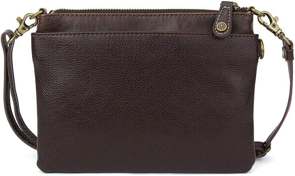 Pu Leather Multi Zipper Small Shoulder Purse Adjustable Strap Chala Mini Crossbody Handbag
