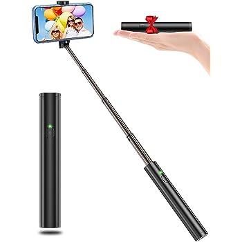 Bovon Perche Selfie, Ultra-Léger Aluminium Tout en Un Bluetooth Selfie Stick Extensible, Bâton Selfie Monopode Compact Compatible avec iPhone 12 Pro Max/12 Mini/11 Pro/XR/XS/X, Galaxy S20, Huawei ect
