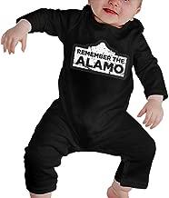 Srapark Distressed 1836 Texas Alamo Newborn Unisex Baby Boys Girls Bodysuit Long Sleeve Jumpsuit