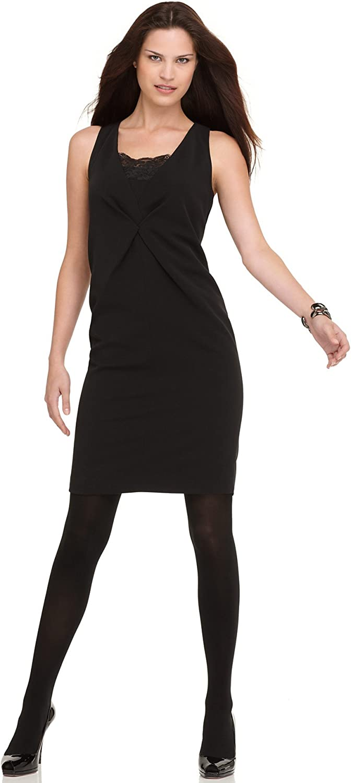 Ellen Tracy  women's Cocktail Dress Lace 14 Black