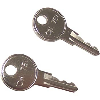 QTY 5  CH751 KEYS AND LOCK SET