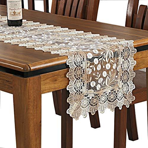 Chemin De Table En Dentelle Beige Kitchen Dining Nappe Table Flag Table Basse Couverture Serviette Table Tapis (taille : 40×200cm)