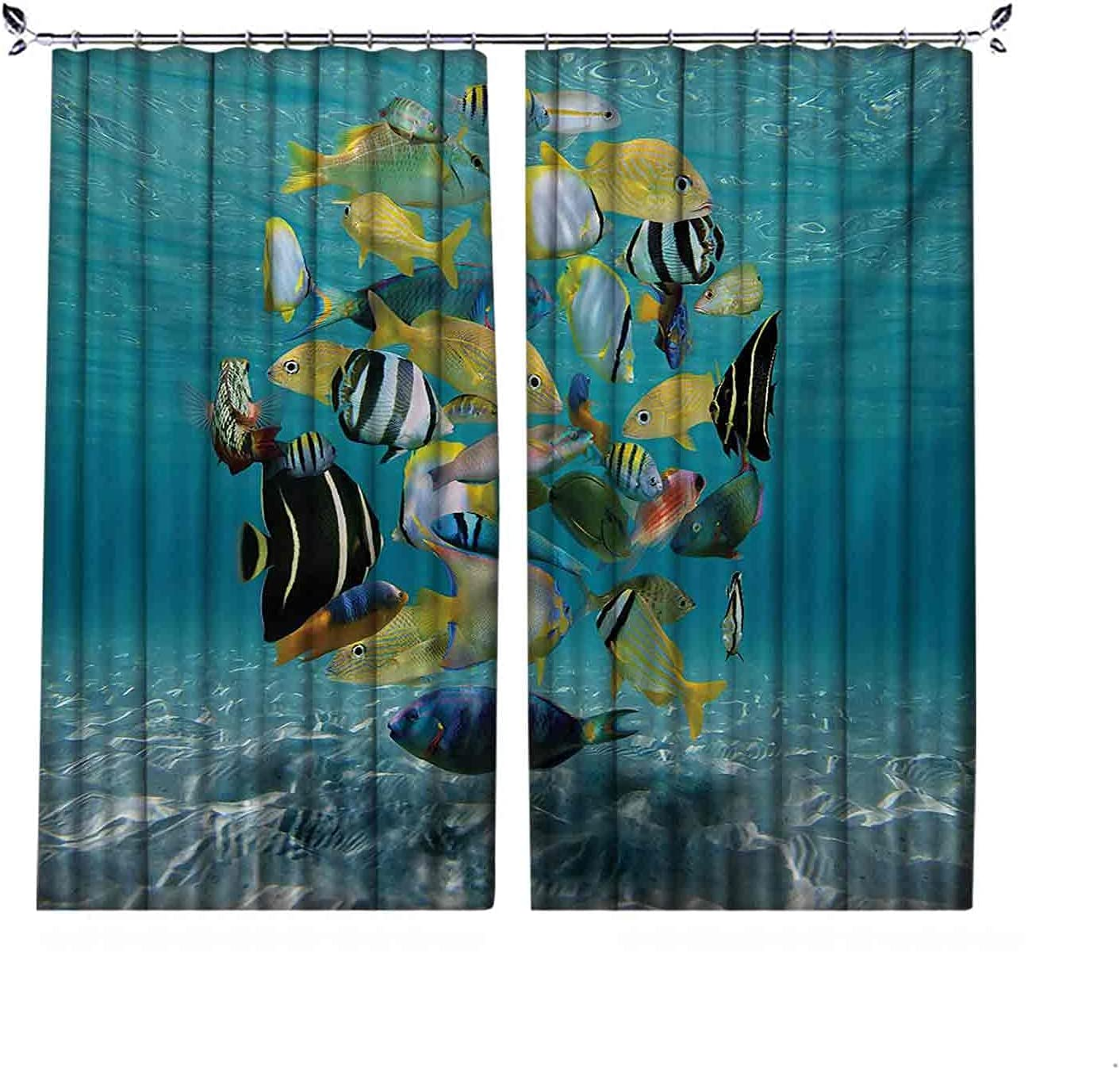 90% Blackout Fish Curtains Shoal Forming of Max 57% OFF Circle Above Clearance SALE Limited time a