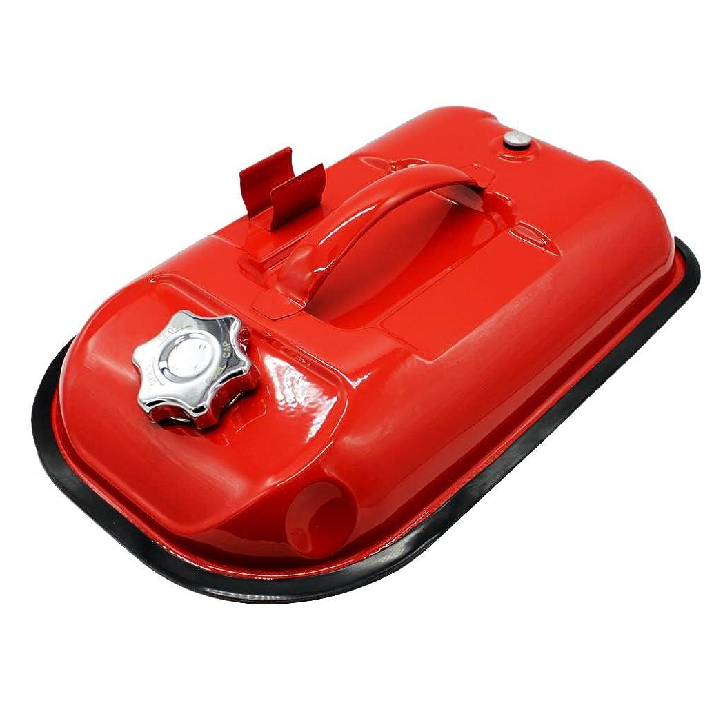 亡命ハードリングメロドラマティックDolity ガソリン携行缶 持ち運び便利/外出必備品 旅行/応急手当用品 冷間圧延板製 5L  超圧縮 高強度硬度 赤い 耐久性