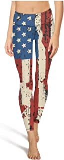 Woman High Waisted Yoga Pants Firefighter Fier Truck American Flag Comfortable Pretty Sports Home Pants Leggins