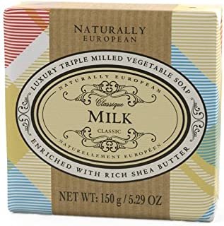Naturally European Milk Wrapped Luxurious Triple Milled Vegetable Soap Bar 150g