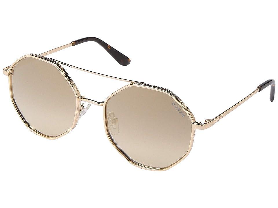 GUESS GU7636 (Gold/Smoke Mirror) Fashion Sunglasses