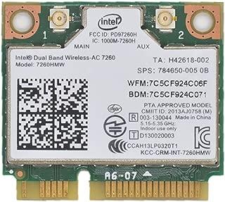 Network Bluetooth Card for Intel 7260HMW Dual Band Wireless-AC 7260 Network Adapter PCI Express Half Mini Card 802.11 b/a/g/n/ac
