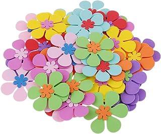 LOVEINUSA 160 PCS Foam Flower Shapes Sticker for Kids DIY Art Project Hand Craft (Not Self-Adhesive)