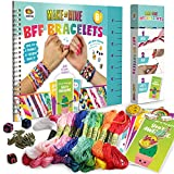 Friendship Bracelet Making Kit, Huge Value, Letter Beads, Crafts For Girls, 20 Multi-Color Embroidery Floss, 'A-Z' Alphabet Beads, Knot Patterns, Colorful String, Bracelet Charms, Friendship Bracelets