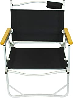 Sling Chair Comfortable Outdoor Camping Chair High and Inclined Back Rest with Carry Bag for Easy Transport