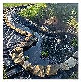 SHIJINHAO Personalizable Revestimiento De Estanque, Negro Película Impermeable Resistente A Los Rayos Ultravioleta Impermeable Flexible Resistencia Al Desgarro (Color : Black, Size : 2x10m)