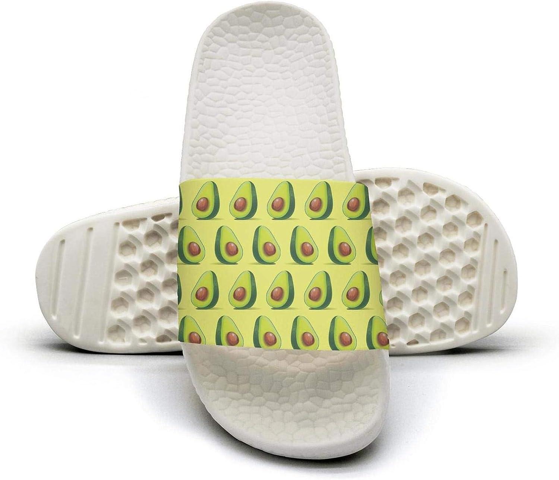 Women's Cute Avocados Green Slip on Beach Sandals and Anti-Slip Shower Slipper Comfort Sandals