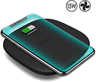 Nillkin 15W Fast Wireless Charger, Qi-Certified Charging Pad 7.5W[Cooling Fan]Compatible with iPhone 11/11 Pro/11 Pro Max/Xs Max/XS/XR/X/8/8 Plus,10W for Samsung Galaxy S10/S10E/S9/Note10/10+ and More