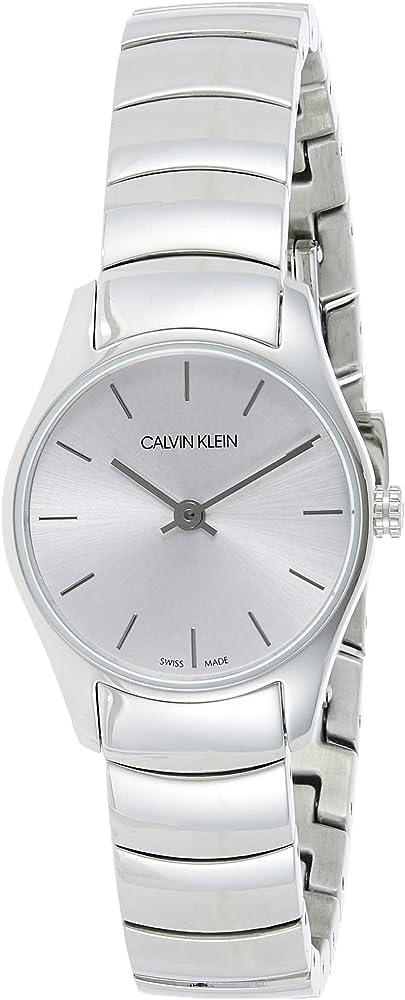 Calvin klein, orologio elegante per donna,in acciaio inossidabile K4D23146