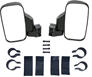 8MILELAKE Adjustable UTV Side Mirror Set 1.75inches or 2inches Roll Bar Cage/High Impact Universal UTV Side View Mirrors