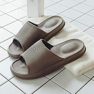B/H Sandales Natation Homme,Sandales silencieuses Super Douces, Pantoufles de Massage déodorant à Fond épais-Couleur café_...