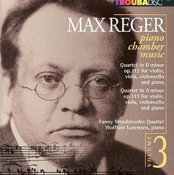 Reger: Piano Chamber Music, Vol. 3