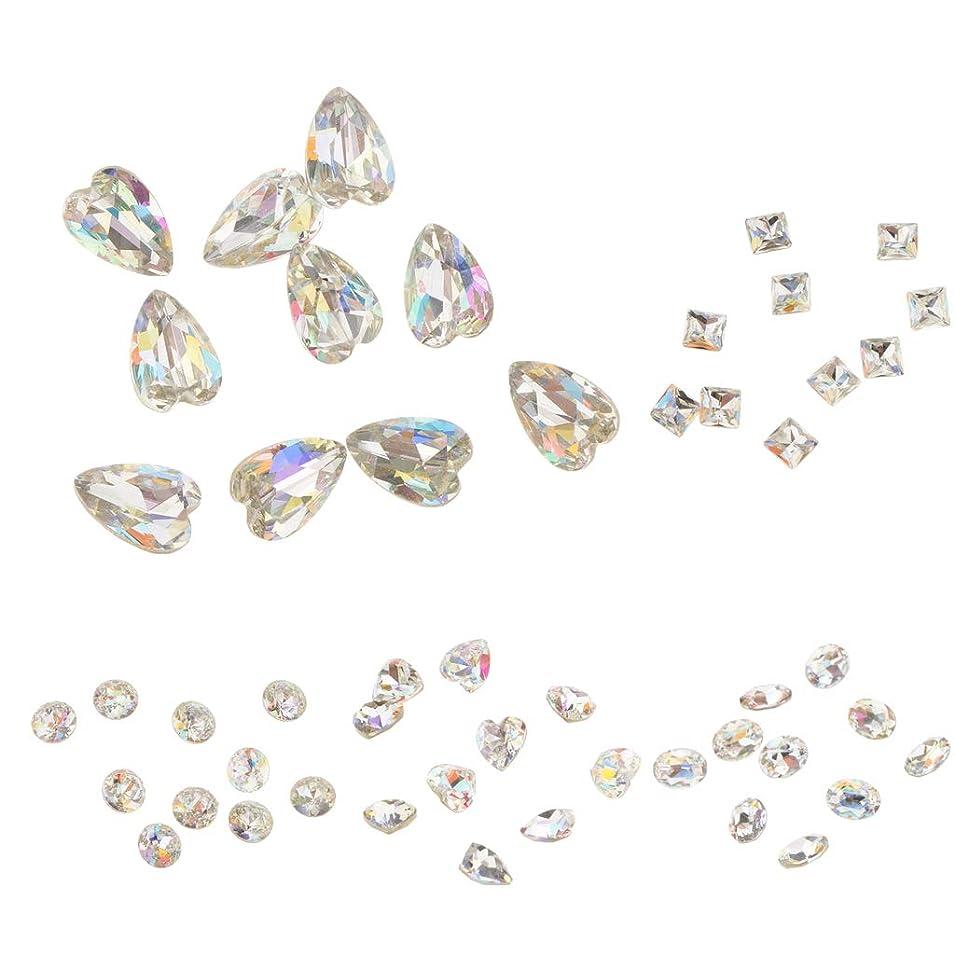 マージン尊敬誘発するPerfeclan 約50本 3Dネイルチャーム ネイルアート 3D ブリングラス ダイヤモンドチップ