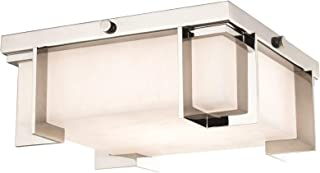 Hudson Valley Lighting 3910-PN Delmar Flush Mount, Small, Polished Nickel